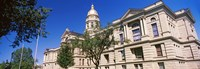 """Low angle view of a government building, Wyoming State Capitol, Cheyenne, Wyoming, USA by Panoramic Images - 26"""" x 9"""""""