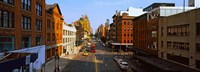 """Buildings along a road in a city, view from High Line, New York City, New York State, USA by Panoramic Images - 25"""" x 9"""""""