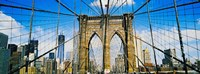 "Brooklyn Bridge with Freedom Tower, New York City, New York State by Panoramic Images - 24"" x 9"""