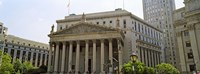 """Facade of a government building, US Federal Court, New York City, New York State, USA by Panoramic Images - 24"""" x 9"""""""