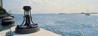 """Navigational light at a harbor, New York City, New York State, USA by Panoramic Images - 25"""" x 9"""""""