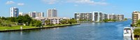 """Buildings on Intracoastal Waterway, Hollywood Beach, Hollywood, Florida by Panoramic Images - 31"""" x 9"""""""