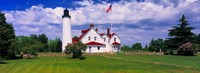 """Clouds over the Point Iroquois Lighthouse, Michigan, USA by Panoramic Images - 24"""" x 9"""""""