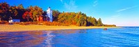"""Forty Mile Point Lighthouse on the beach, Michigan, USA by Panoramic Images - 27"""" x 9"""", FulcrumGallery.com brand"""