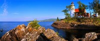"""Eagle Harbor Lighthouse at coast, Michigan, USA by Panoramic Images - 22"""" x 9"""""""