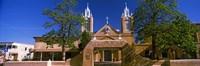 Facade of a church, San Felipe de Neri Church, Old Town, Albuquerque, New Mexico, USA Fine Art Print