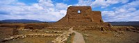 """Main structure in Pecos Pueblo mission church ruins, Pecos National Historical Park, New Mexico, USA by Panoramic Images - 29"""" x 9"""""""