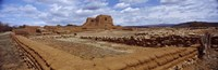 """Church ruins, Pecos National Historical Park, New Mexico, USA by Panoramic Images - 28"""" x 9"""""""