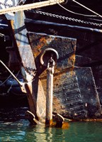 """Anchor of a Tall ship in Douarnenez harbor, Finistere, Brittany, France by Panoramic Images - 9"""" x 12"""", FulcrumGallery.com brand"""