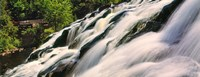 """Waterfall in a forest, Bond Falls, Upper Peninsula, Michigan, USA by Panoramic Images - 24"""" x 9"""""""