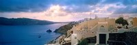 """Town at the waterfront, Santorini, Cyclades Islands, Greece by Panoramic Images - 27"""" x 9"""""""