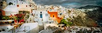 """Storm cloud over the Santorini, Cyclades Islands, Greece by Panoramic Images - 27"""" x 9"""" - $28.99"""