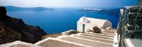 "Steps leading to church, Santorini, Cyclades Islands, Greece by Panoramic Images - 27"" x 9"""