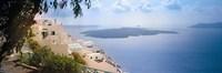Dwellings Along Cliff Santorini Greece