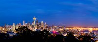 "High angle view of a city at dusk, Seattle, King County, Washington State, USA 2012 by Panoramic Images, 2012 - 21"" x 9"""