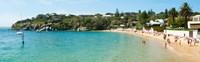 People on the beach, Camp Cove, Watsons Bay, Sydney, New South Wales, Australia Fine Art Print