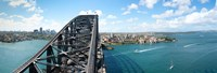 """Sydney from top of observation pylon of Sydney Harbor Bridge, New South Wales, Australia by Panoramic Images - 26"""" x 9"""""""