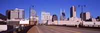 """Road into downtown Nashville, Tennessee, USA 2013 by Panoramic Images, 2013 - 27"""" x 9"""""""
