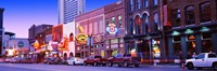 Street scene at dusk, Nashville, Tennessee, USA Fine Art Print