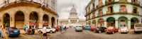 """Street View of Government buildings in Havana, Cuba by Panoramic Images - 32"""" x 9"""""""