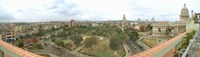 """Aerial View of Government buildings in Havana, Cuba by Panoramic Images - 31"""" x 9"""""""