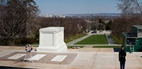 "Tomb of a soldier in a cemetery, Arlington National Cemetery, Arlington, Virginia, USA by Panoramic Images - 18"" x 9"""