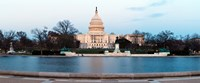 "Government building at dusk, Capitol Building, National Mall, Washington DC by Panoramic Images - 22"" x 9"""