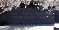"Inscription of FDR's new deal speech written on stones at a memorial, Franklin Delano Roosevelt Memorial, Washington DC, USA by Panoramic Images - 17"" x 9"""