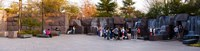 "Tourists at Franklin Delano Roosevelt Memorial, Washington DC, USA by Panoramic Images - 36"" x 9"""