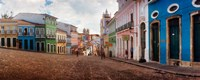 "Colorful buildings, Pelourinho, Salvador, Bahia, Brazil by Panoramic Images - 23"" x 9"""