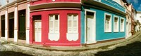 "Houses along a street in a city, Pelourinho, Salvador, Bahia, Brazil by Panoramic Images - 22"" x 9"""