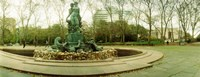 """Fountain in a park, Bailey Fountain, Grand Army Plaza, Brooklyn, New York City, New York State, USA by Panoramic Images - 23"""" x 9"""", FulcrumGallery.com brand"""