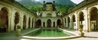 "Courtyard of a mansion, Parque Lage, Jardim Botanico, Corcovado, Rio de Janeiro, Brazil by Panoramic Images - 22"" x 9"""