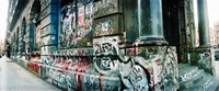 """Graffiti covered Germania Bank Building on Bowery Street, Soho, Manhattan, New York City by Panoramic Images - 22"""" x 9"""""""