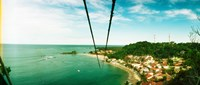 "Zip line ropes for zip inning over the beach, Morro De Sao Paulo, Tinhare, Cairu, Bahia, Brazil by Panoramic Images - 21"" x 9"" - $28.99"
