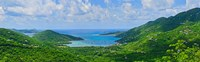 "Clouds over the sea, Coral Bay, St. John, US Virgin Islands by Panoramic Images - 29"" x 9"""