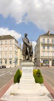 """Nicephore Niepce Statue, Chalon-Sur-Saone, Burgundy, France by Panoramic Images - 9"""" x 17"""""""