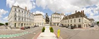 """Nicephore Niepce Statue at town square, Port Villiers Square, Chalon-Sur-Saone, Burgundy, France by Panoramic Images - 22"""" x 9"""""""