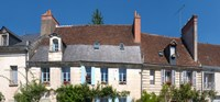 """Old houses in a town, Loches, Loire-et-Cher, Loire, Touraine, France by Panoramic Images - 19"""" x 9"""""""