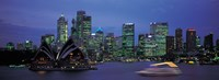 """Buildings at the waterfront, Sydney Opera House, Sydney, New South Wales, Australia by Panoramic Images - 25"""" x 9"""", FulcrumGallery.com brand"""
