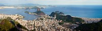 "Aerial view of  Guanabara Bay, Rio De Janeiro, Brazil by Panoramic Images - 30"" x 9"""