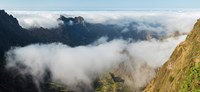 "High angle view of clouds in the valley, Santo Antao, Cape Verde by Panoramic Images - 20"" x 9"""
