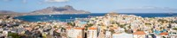 "High angle view of city at the waterfront, Mindelo, Sao Vicente, Cape Verde by Panoramic Images - 41"" x 9"""