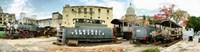 Old Trains Being Restored Havana Cuba