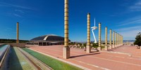 "Calatrava Tower at Olympic Ring in Montjuic, Barcelona, Catalonia, Spain by Panoramic Images - 18"" x 9"" - $28.99"
