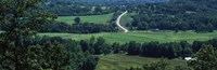 """Winding road passing through a landscape, East Central, Missouri, USA by Panoramic Images - 37"""" x 12"""""""