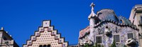 """Low angle view of a building, Casa Batllo, Passeig De Gracia, Barcelona, Catalonia, Spain by Panoramic Images - 36"""" x 12"""""""