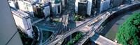 "Aerial Akasaka Tokyo Japan by Panoramic Images - 37"" x 12"""