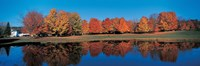 """Autumn by the Lake, Laurentide Quebec Canada by Panoramic Images - 36"""" x 12"""""""
