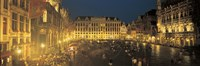 """Grand Place Brussels Belgium by Panoramic Images - 36"""" x 12"""", FulcrumGallery.com brand"""